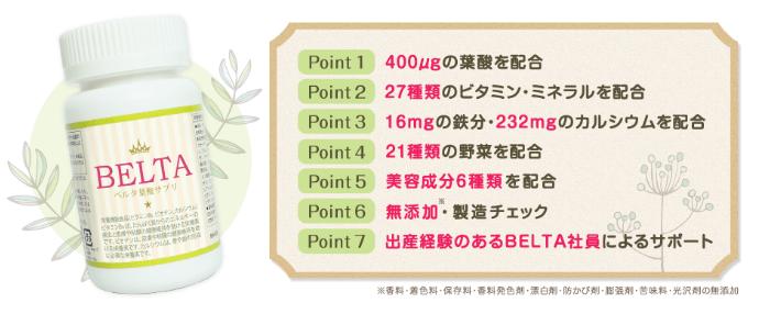 ベルタの葉酸サプリは口コミ人気No.1